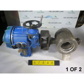 "1 OF 2 - V-BALL VALVE - NELES JAMESBURY R11 - 6"" - USED"