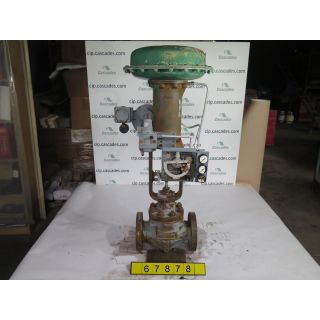 "LINEAR GLOBE VALVE - FISHER EZ - 3"" - USED"