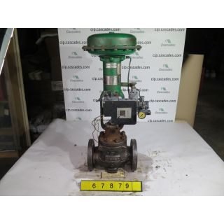 "LINEAR GLOBE VALVE - FISHER EK - 3"" - USED"