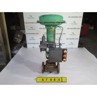 "LINEAR GLOBE VALVE - FISHER ED - 1.5"" - USED"