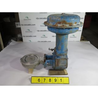 "BUTTERFLY VALVE F/TAIL - FISHER 8560 - 6"" - USED"