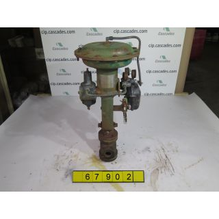 "LINEAR GLOBE VALVE V PORT - FISHER - 1"" - USED"