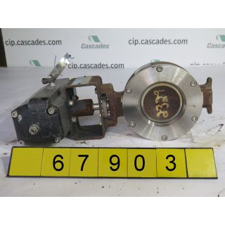 "BUTTERFLY VALVE - MC CANNALOK L15D - 4"" - USED"