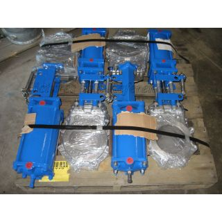 "KNIFE GATE VALVE - 8"" - DEZURIK - PNEUMATIC - METAL SEAT"