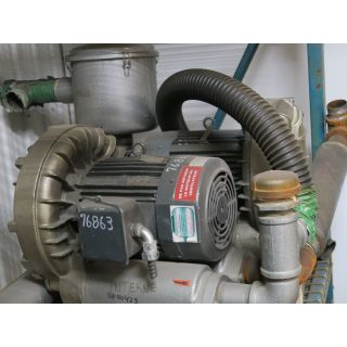 Pre-Owned - SIDE CHANNEL BLOWER - SAMOS SERIES - BUSH - FBC 3388-7 - 10 HP - 575 VOLTS - FOR SALE