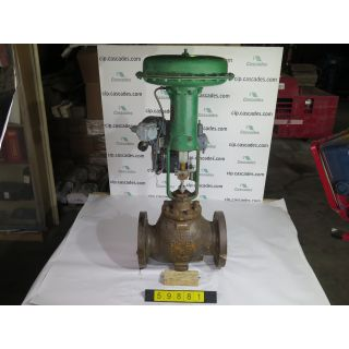 "LINEAR - GLOBE VALVE - FISHER EWD - 6"" - USED"