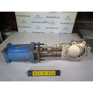 "KNIFE GATE VALVE - 8"" - TRUELINE - PNEUMATIC - METAL SEAT - USED"