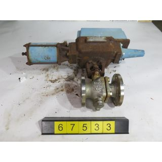 "1 OF 2 - V-BALL VALVE - KTM - 2"" - USED"