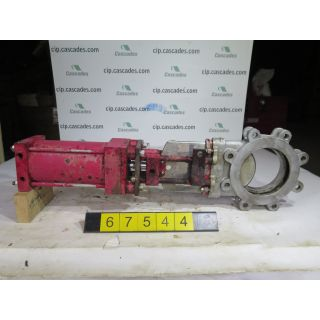 """KNIFE GATE VALVE - 6"""" - TRUELINE - PNEUMATIC - RESILIENT SEAT - USED"""