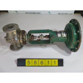 "LINEAR - GLOBE VALVE - FISHER ED - 1.500"" - USED"