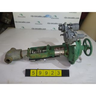 "LINEAR - GLOBE VALVE - FISHER D - 1"" - USED"