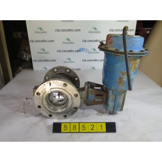 "V-BALL VALVE - NELES JAMESBURY R23 - 6"" - USED"