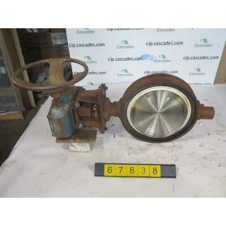"BUTTERFLY VALVE - JAMESBURY - 12"" - USED"