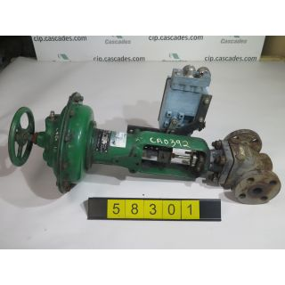 "USED GLOBE VALVE - FISHER CONTROLS TYPE: EZ - 1"" - FOR SALE"