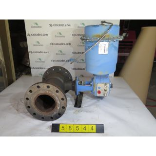 "PLUG VALVE - Eccentric rotary plug valve - JAMESBURY - 4"" - USED"