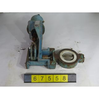 "BUTTERFLY VALVE - FISHER - 4"" - USED"
