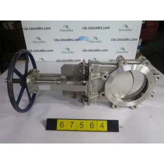 "KNIFE GATE VALVE - 8"" - FLOW CONTROL - MANUAL – METAL SEAT - USED"
