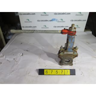 "KNIFE GATE VALVE - 3"" - DEZURIK - MANUAL - RESILIENT SEAT - USED"
