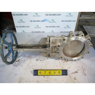 "KNIFE GATE VALVE - 10"" - FLOW CONTROL - MANUAL – METAL SEAT - USED"