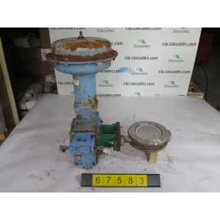 "BUTTERFLY VALVE - FISHER 8560 - 6"" - USED"