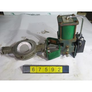 "BUTTERFLY VALVE - FISHER - 6"" - USED"