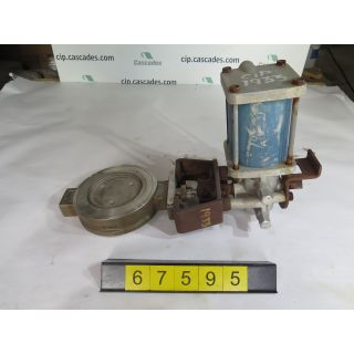"1 OF 5 - BUTTERFLY VALVE - JAMESBURY 815W - 6"" - USED"