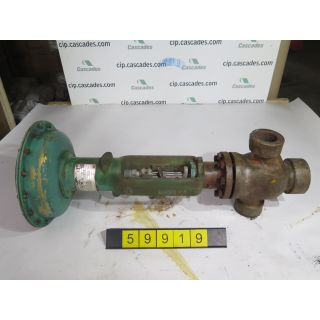 "LINEAR 3 WAY - GLOBE VALVE - FISHER - 2"" NPT - USED"