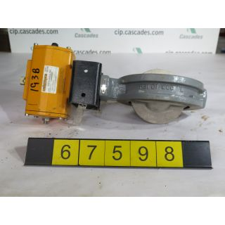 """BUTTERFLY VALVE - FISHER - 6"""" - USED"""