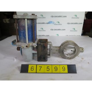 "BUTTERFLY VALVE - FISHER 1004-322-CA - 4"" - USED"
