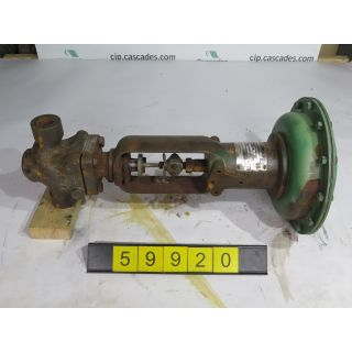 "1 OF 2 - LINEAR - GLOBE VALVE - FISHER - 1"" - USED"