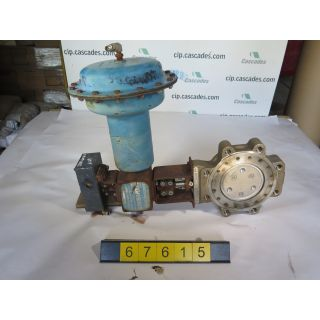 "BUTTERFLY VALVE - JAMESBURY 815L - 6"" - USED"