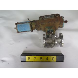 "V-BALL VALVE - DEZURIK 551 - 1.500"" - USED"