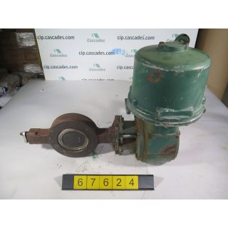 "BUTTERFLY VALVE - FISHER 8500 - 6"" - USED"