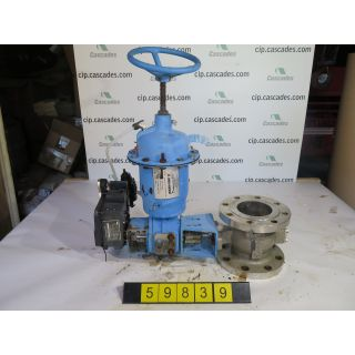 "V-BALL VALVE - NELES JAMESBURY R21C - 4"" - USED"