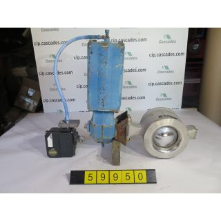 "V-BALL VALVE - NELES JAMESBURY R1LS - 6"" - USED"