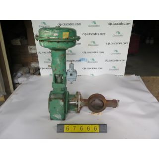 "BUTTERFLY VALVE - FISHER 1052 - 4"" - USED"