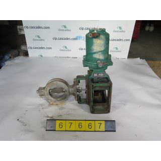 "BUTTERFLY VALVE - FISHER 1061 - 4"" - USED"