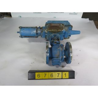 "V-BALL VALVE - DEZURIK 9066643 - 3"" - USED"