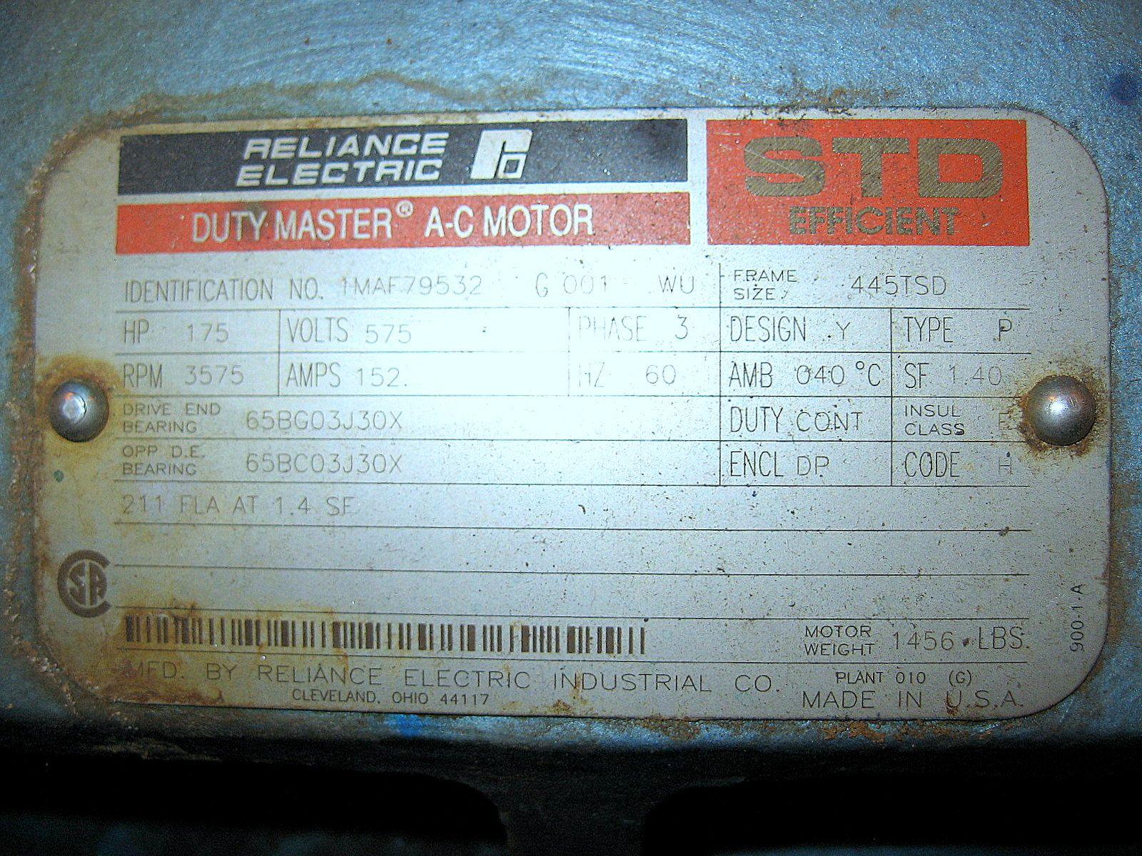 AIR COMPRESSOR - INGERSOLL RAND OCV6M2 - 175 HP - 626 CFM