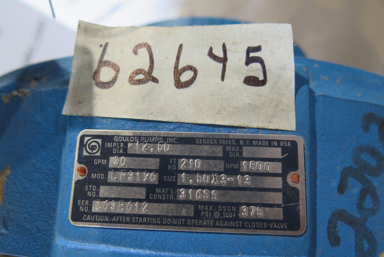 PUMP - GOULDS LF 3196 LTX - 1 5 x 3 - 13