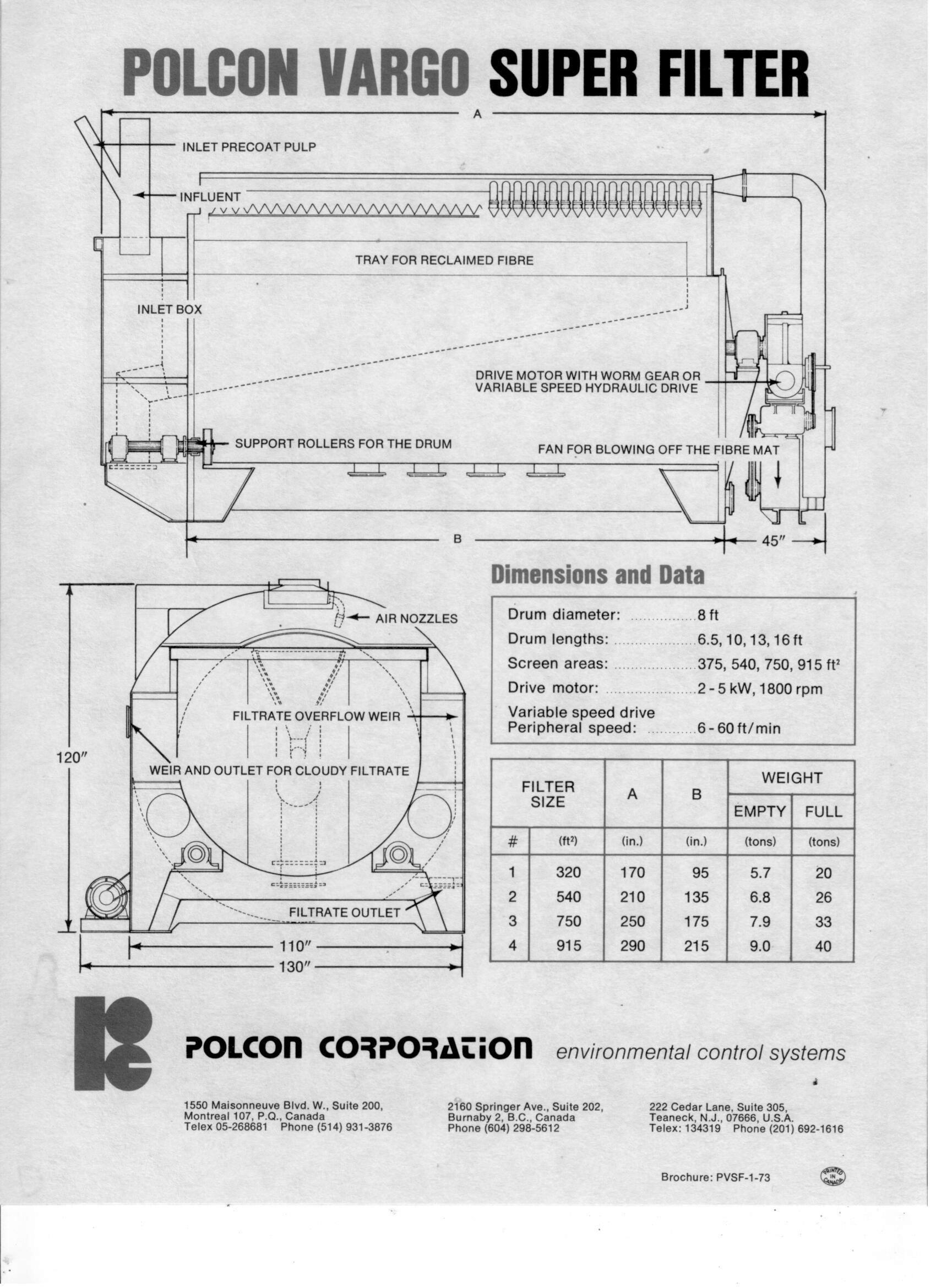 POLCON - VARGO - SUPER DRUM FILTER - SIZE 4
